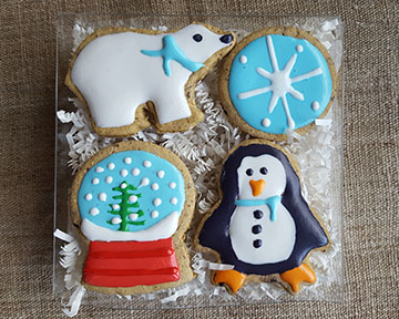 Gift Box - Bear Penguin Snowglobe