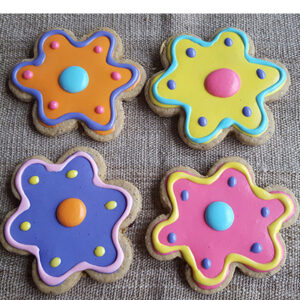 Iced Dog Treats - flowers
